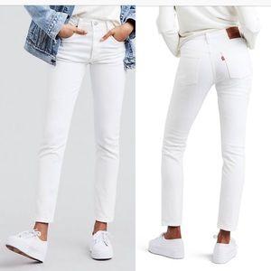 NEW Levi's 501 skinny white jeans size 27